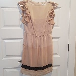 Ann Taylor - Loft (0petite) tri-color nude dress